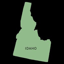 Mapa llano del estado de Idaho