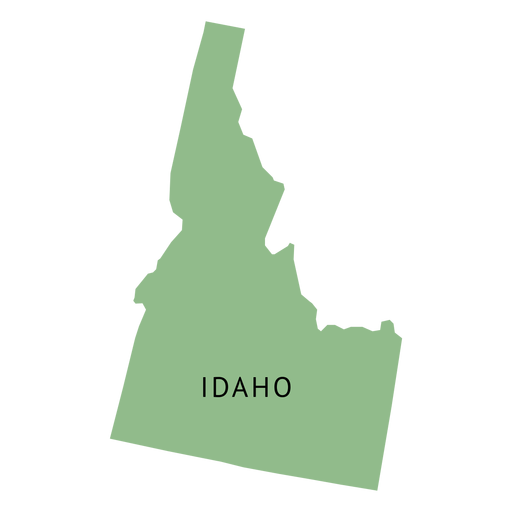 Idaho state plain map Transparent PNG
