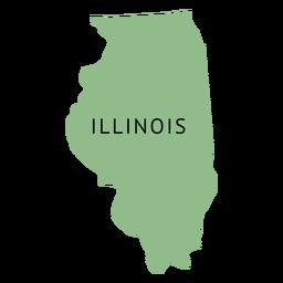 Mapa da planície do estado de Illionois