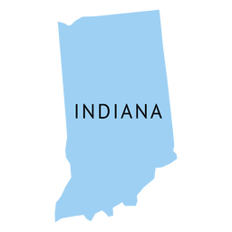 Indiana state plain map