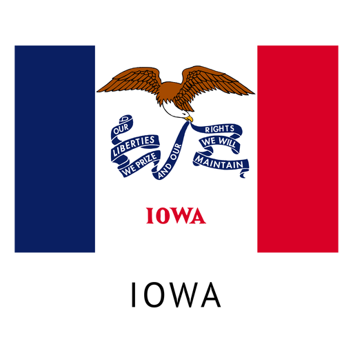 Iowa state flag Transparent PNG