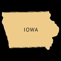 Landkarte von Iowa