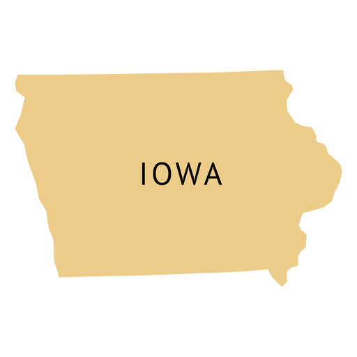 Iowa state plain map Transparent PNG