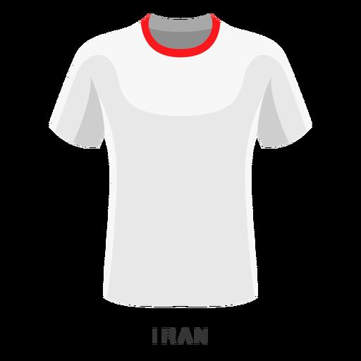 Desenhos animados da camisa do futebol do campeonato do mundo de Irã Transparent PNG