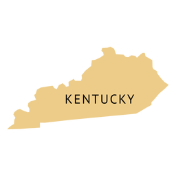 Mapa llano del estado de Kentucky
