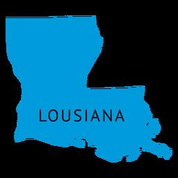Lousiana state plain map