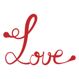 Love handwriting sticker
