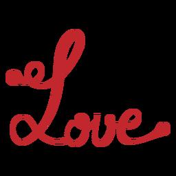 Pegatina de escritura de amor
