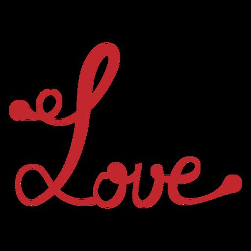 Etiqueta engomada de la escritura de amor