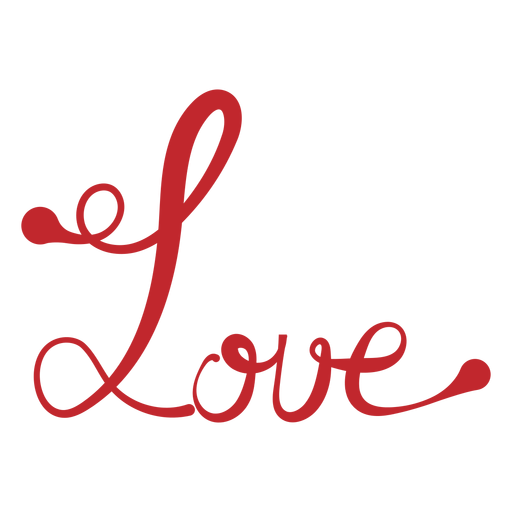 Love handwriting sticker Transparent PNG