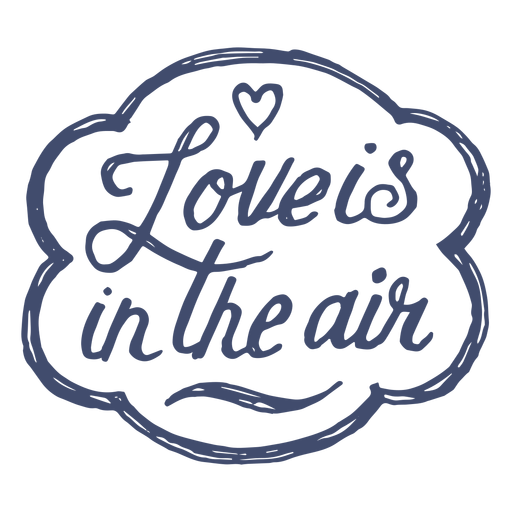Love is in the air sticker Transparent PNG