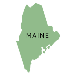 Maine state plain map