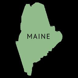 Mapa del estado de Maine
