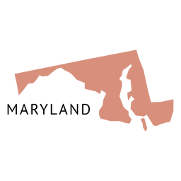 Mapa llano del estado de Maryland