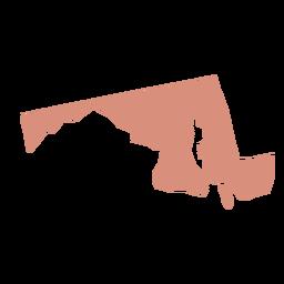 Mapa plano de estado de Maryland