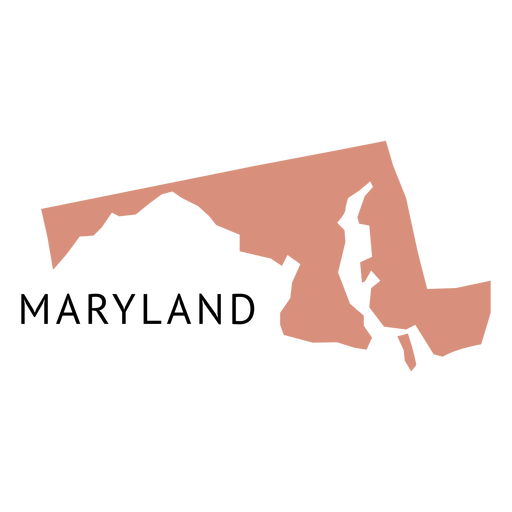 Mapa llano del estado de Maryland Transparent PNG