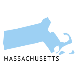 Mapa plano do estado de Massachusetts