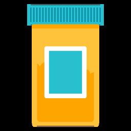 Icono de botella de píldora médica