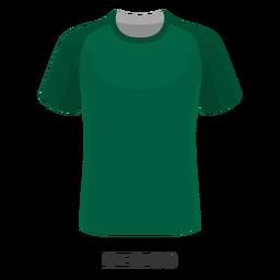 Dibujos animados de la camiseta de fútbol de la copa mundial de México