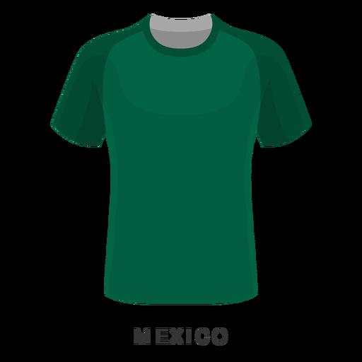 Dibujos animados de camiseta de fútbol de la copa mundial de méxico