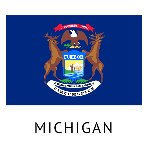 Michigan state flag Transparent PNG