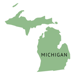 Mapa llano del estado de Michigan