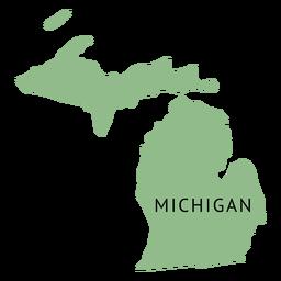Mapa plano do estado de Michigan