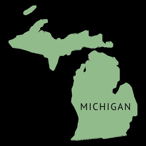 Mapa llano del estado de Michigan