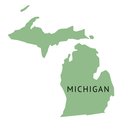 Michigan State Plain Map Transparent Png Svg Vector