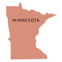 Mapa plano do estado de Minnesota