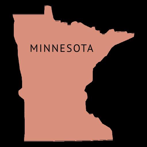 Mapa llano del estado de Minnesota Transparent PNG