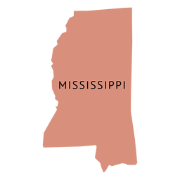 Mapa da planície do estado do Mississippi