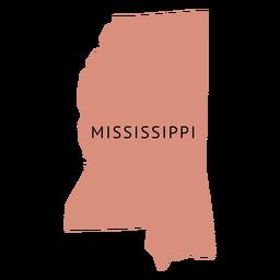 Mapa llano del estado de Mississippi