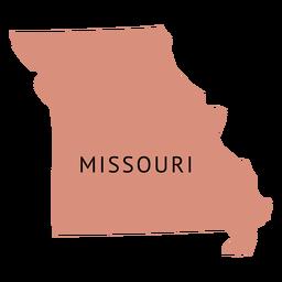 Mapa plano do estado de Missouri