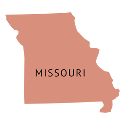 Missouri state plain map