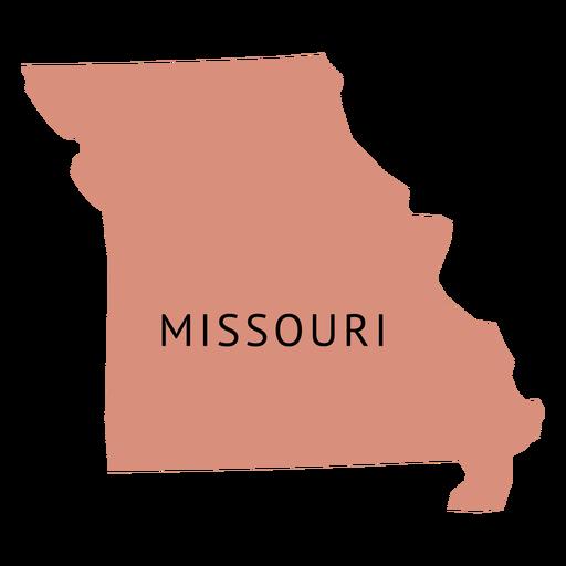 Mapa llano del estado de Missouri