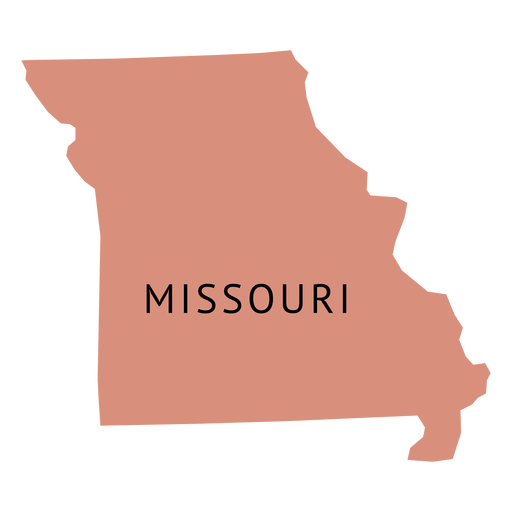 Missouri state plain map - Transparent PNG & SVG vector