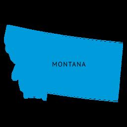 Mapa llano del estado de Montana