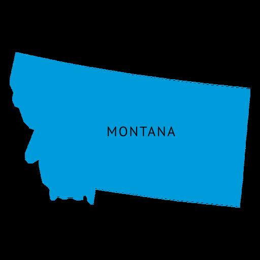 Mapa del estado de Montana llano