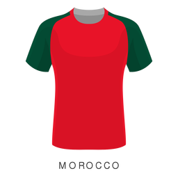 Desenhos animados da camisa do futebol da copa do mundo de Marrocos