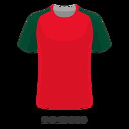 Dibujos animados de camiseta de fútbol de la copa mundial de marruecos