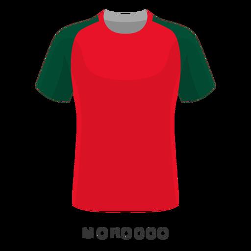 Desenhos animados da camisa do futebol da copa do mundo de Marrocos Transparent PNG