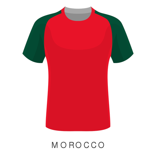 Morocco world cup football shirt cartoon Transparent PNG