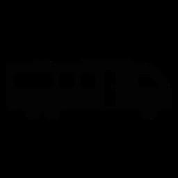 Icono plana del vehículo autocaravana