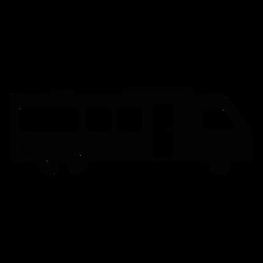 Icono plana del vehículo autocaravana Transparent PNG