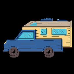 Ilustración de vehículo de autocaravana