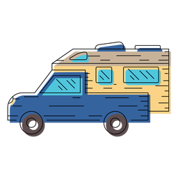 Motorhome vehicle illustration