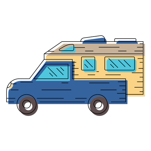 Motorhome vehicle illustration Transparent PNG