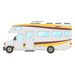 Motorhome vehicle vector