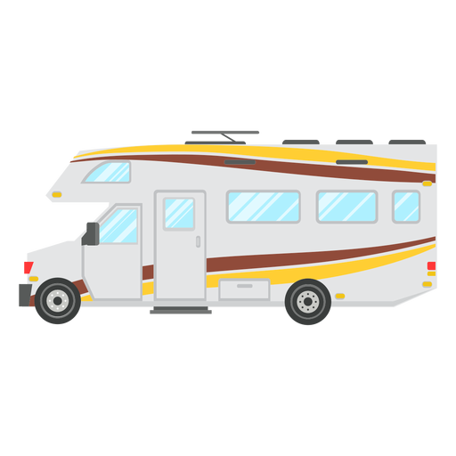 Motorhome vehicle vector Transparent PNG